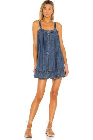 Free People Wild One Denim Mini Dress in . Size XS, S, M.
