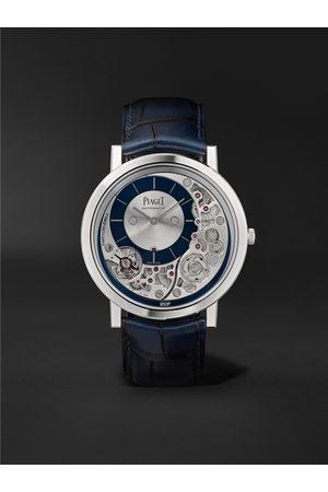 PIAGET Altiplano Ultimate Automatic 41mm 18-Karat White Gold and Alligator Watch, Ref. No. G0A45123