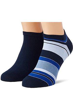 Tommy Hilfiger Mens Color Stripe Men's Sneaker-Trainer (2 Pack) Socks
