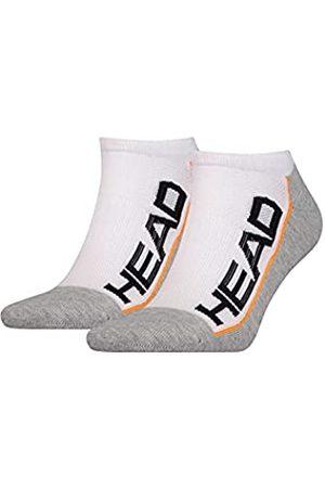 Head Herren Socken & Strümpfe - Unisex-Adult Performance Sneaker – Trainer (2 Pack) Tennis Socks, White/Grey