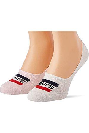 Levi's Herren Socken & Strümpfe - Unisex-Adult Sportswear Logo Low Rise (2 Pack) Socks, pink/White