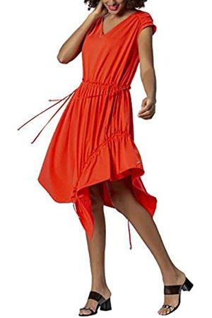 Apart APART extravagantes Damen Kleid, Sommerkleid, schwarz, schräg angesetzter Volant am Saum, weiter Rockpart