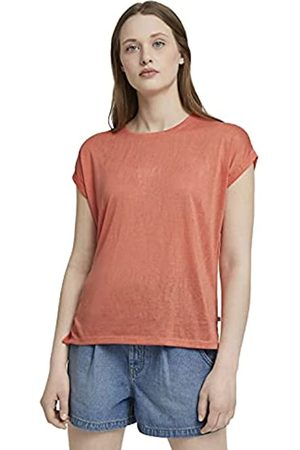 TOM TAILOR Damen Shirts - Damen 1025671 Relaxed T-Shirt, 26783-Sundown Coral
