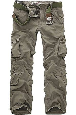 Leward Herren Casual Active Military Cargo Camouflage Combat Pants Hose mit 8 Taschen - - 52