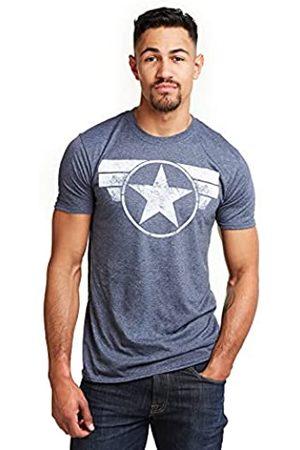 Marvel Herren Caps - Herren Captain America Cap Logo T-Shirt
