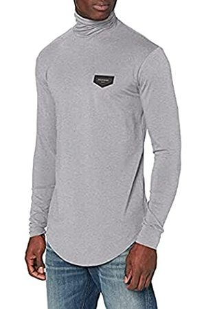 Gianni Kavanagh Herren Grey Melange Core Turtleneck Long Sleeve Tee Unterhemd