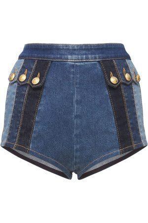 DSQUARED2 Stretch Cotton Denim Hot Pants