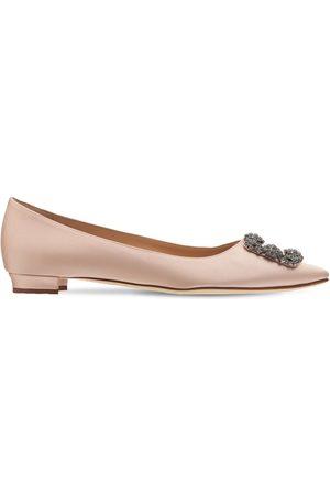 Manolo Blahnik 10mm Hohe Schuhe Aus Seidensatin