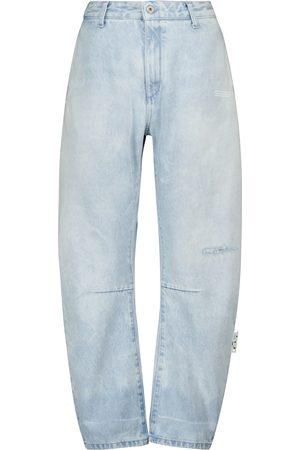 OFF-WHITE High-Rise-Jeans mit weitem Bein