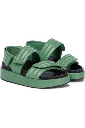 DRIES VAN NOTEN Slingback-Sandalen aus Leder