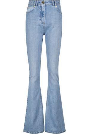 Balmain High-Rise Flared Jeans