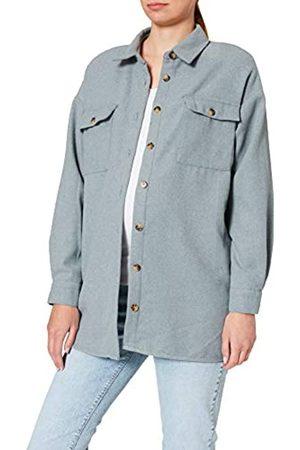 Mama Licious Damen NMFLANNY L/S Long Shacket BG S Hemd
