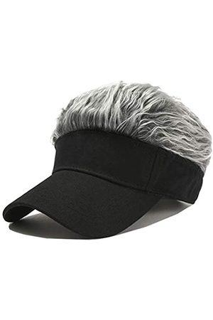 ALL IN ONE CART Flair Hair Visor Sonnenhaube Perücke Schirmmütze Kappe Kappe Kappe Kappe Kappe Kappe Kappe mit Spitzen Haar - - Einheitsgröße