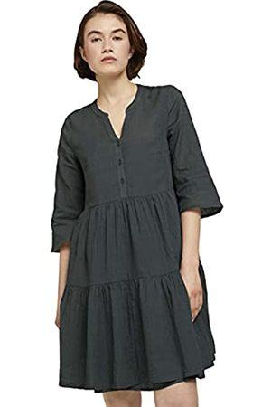 TOM TAILOR Damen 1025410 Babydoll Kleid, 26678-Dusty Pine Green