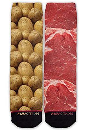 Function Socks Funktion: Modische Socken mit Steak und Kartoffeln.