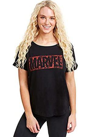 Marvel Damen Comic Logo T-Shirt