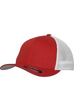 Flexfit Herren Caps - Mesh Trucker Cap 2-Tone - Unisex Baseballcap für Damen und Herren, Farbe Red/White