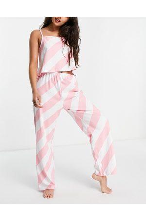 Wednesday's Girl – Pyjama-Set mit Camisole und Hose mit Streifen in Bonbon-Optik