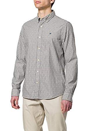 Scotch&Soda Herren Gestreiftes Oxford-Shirt aus Bio-Baumwolle im Regular Fit Hemd