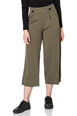 JDY Damen GEGGO New Ancle Pants JRS NOOS Hose, Kalamata/Detail:Black Buttons