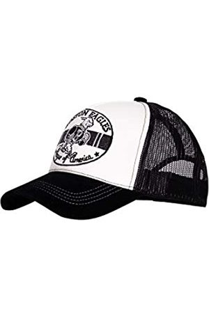 King kerosin Herren Trucker Cap   Stickerei   Mesh   Gebogener Samt Schirm Boston Eagles