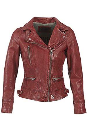 Oakwood Damen Jacke Echtleder 62065, -Rouge (Feu)