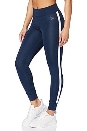 AURIQUE Amazon-Marke: Damen 7/8-Sportleggings mit Seitenstreifen (Dress Blue), 40