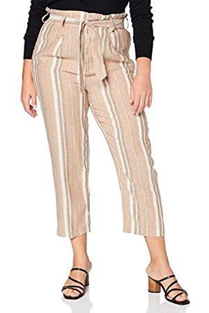 Herrlicher Damen Comfy Multi Stripes Lurex Linen Hose