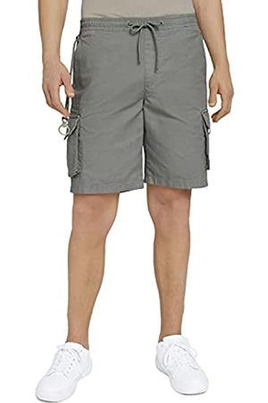 TOM TAILOR Herren Jogginghosen - Herren 1025525 Cargo Jogger Bermuda Shorts, 10767-Greyish Shadow Olive