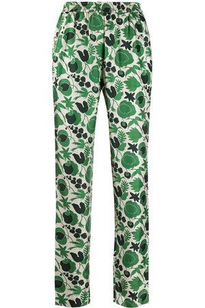 "La Doublej Damen Schlafanzüge - Pyjamahose mit ""Wildbird""-Print"