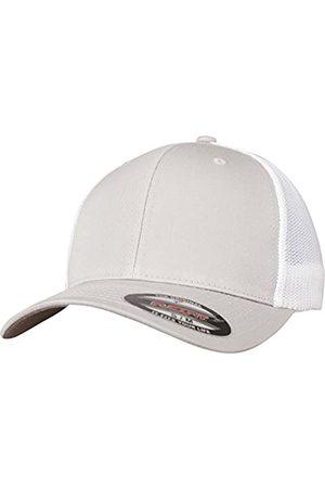 Flexfit Mesh Trucker Cap 2-Tone - Unisex Baseballcap für Damen und Herren, Farbe Silver/White