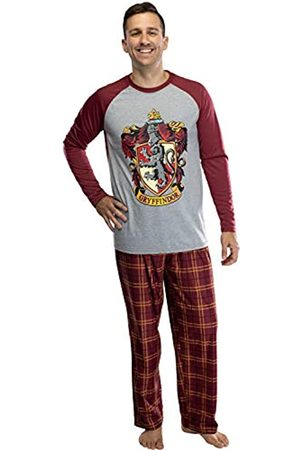 Da Intimo Harry Potter Herren-Pyjama-Set mit Raglanhemd und karierter Hose, Ravenclaw, Slytherin