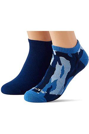Levi's Herren Socken & Strümpfe - Unisex-Adult Camo Low Cut (2 Pack) Socks, Nasturtium/Blue