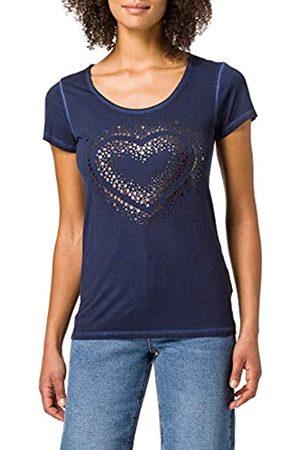 Blue Seven Damen Shirts - Damen Druck, Rundhals T-Shirt