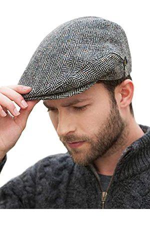 Mucros Weavers Irish Trinity Flat Cap for Men Newsboy Hat - - MEDIUM