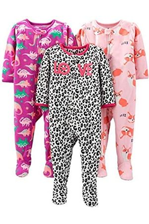 Simple Joys by Carter's 3-Pack Loose Fit Flame Resistant Fleece Footed Pajamas infant-and-toddler-sleepers