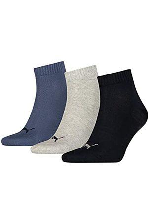 PUMA Plain 3P Quarter Socke, Navy/Grey/Nightshadow Blue