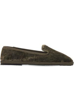 AG Damen Halbschuhe - 10mm Hohe Loafers Aus Samt