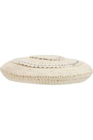 Ganni Damen Hüte - Baskenmütze Aus Baumwollstrick