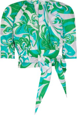 Emilio Pucci Bedrucktes Cropped Top