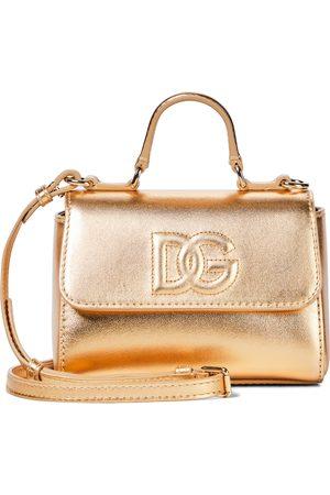 Dolce & Gabbana Mädchen Umhängetaschen - Schultertasche aus Metallic-Leder