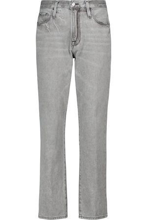 Frame Mid-Rise Jeans Le Nouveau Straight