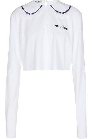 Miu Miu Cropped-Top aus Baumwoll-Jersey