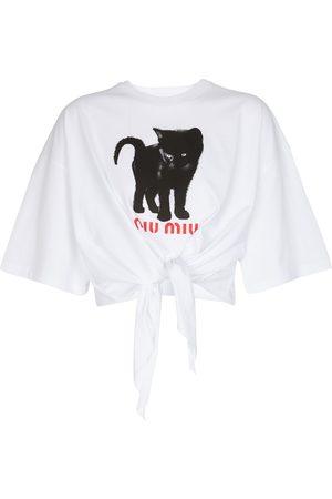 Miu Miu T-Shirt aus Baumwoll-Jersey