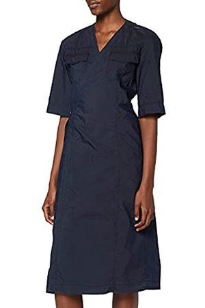 G-Star Womens V-Neck Midi Wrap Business Casual Dress