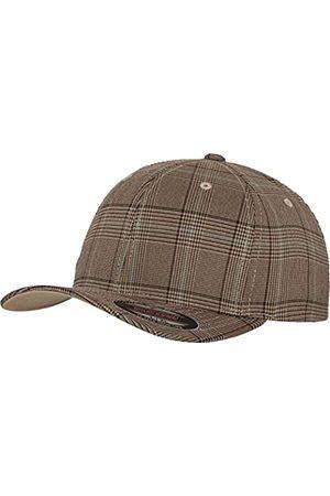 Flexfit Damen und Herren Baseball Caps Glen Check Cap, Brown/Khaki