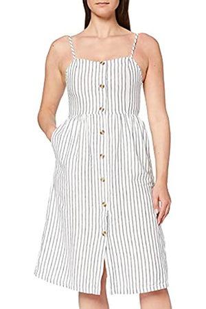 ONLY Damen Freizeitkleider - Damen Sommerkleid Luna gestreift mit Knopfleiste 15178937 40