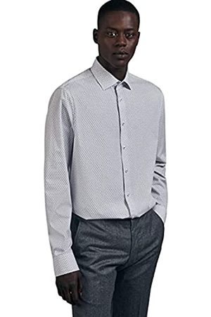 Seidensticker Herren Business Hemd - Bügelleichtes, tailliertes Hemd -Shaped Fit - Langarm - Kent-Kragen - 100% Baumwolle
