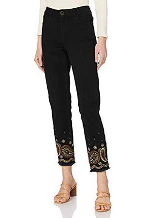 Desigual Damen Jumpsuits - Womens Denim_BELGICA Casual Pants, Black