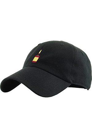 KBETHOS KBSV-038 BLK Henny Bottle Dad Hat Baseball Cap Polo Style Adjustable